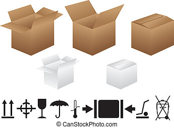 Boxes And Packaging Signs - Set of boxes and packaging signs...