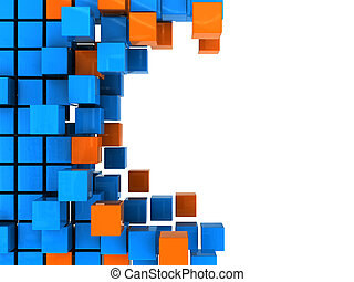 boxes background - abstract 3d illustration of background...