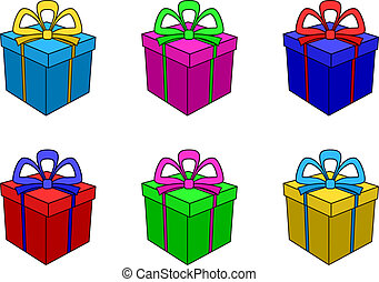 Boxes multi-coloured, square 1(117).jpg - Isolated boxes...
