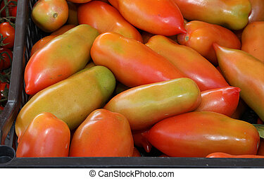 boxes of red tomatoes for sale