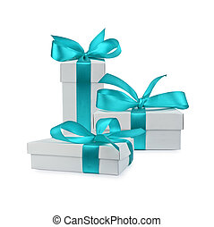 boxes - set of gift box isolated