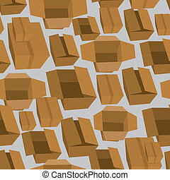 Boxes seamless pattern background