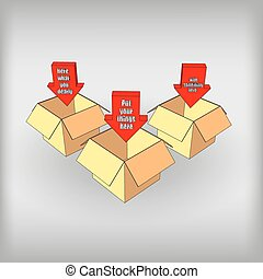 Boxes with arrows