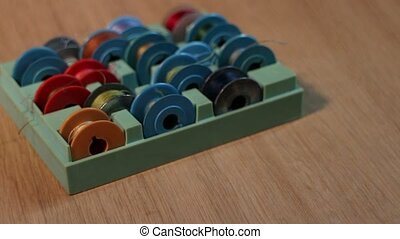 Boxes with tailor thread bobbins - thread bobbins for sewing...