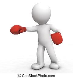 boxeur, 3d
