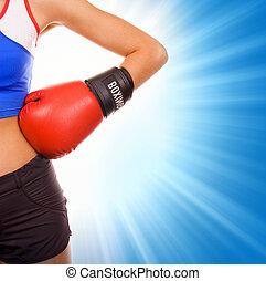 boxeur, femme