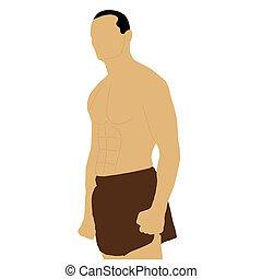 boxeur, poing serré