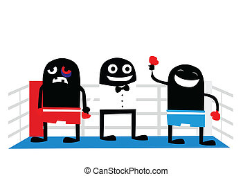 Boxin winner cartoon characters