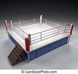 Boxing Arena - A 3d generated professional boxing ring