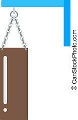 Boxing bag vector illustration icon