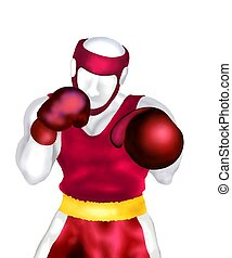 Boxing : Boxer Standing in The Corner Ready to Fight