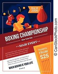 Boxing Championship Poster