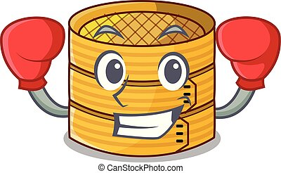 Boxing character steamed bamboo for food tool