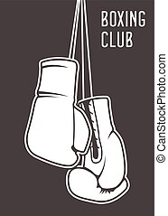Boxing club poster with gloves