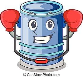 Boxing cylinder bucket Cartoon of for liquid