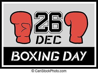 Boxing day card - Creative design of Boxing day card