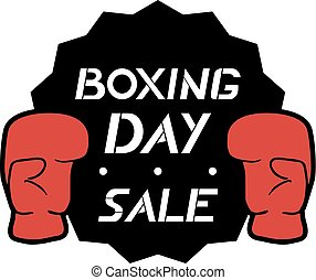 boxing day emblem message - Creative design of boxing day...