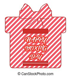 Boxing day graphic design with text, Vector illustration