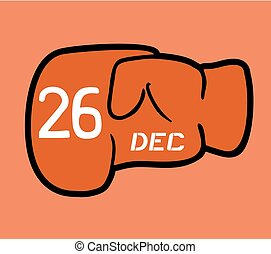 Boxing day punch symbol - Creative design of Boxing day...