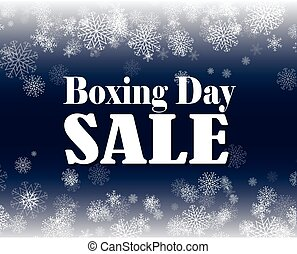 Boxing Day sale - Boxing day sale vector illustration with...