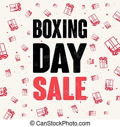 boxing day sale gifts special offer vector illustration