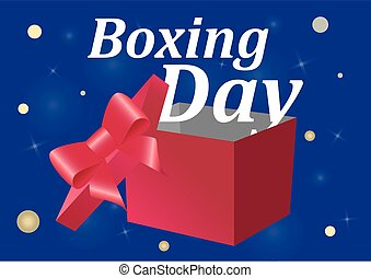 Boxing Day sale on a blue background