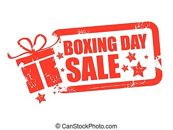 Boxing day sale red design - Boxing day grunge rubber stamp...
