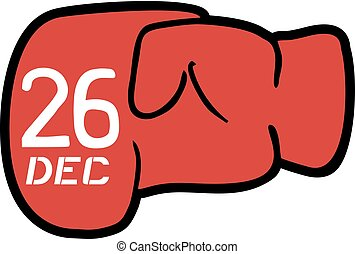 Boxing day symbol - Creative design of Boxing day symbol