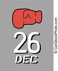 boxing day symbol message - Creative design of boxing day...