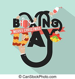 Boxing Day Typography Design Vector Illustration