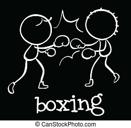 Boxing - Illustration of people boxing