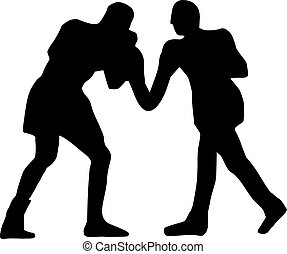 Boxing Fight Silhouette