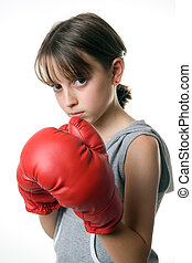 Boxing Girl - A girl taking self defence class