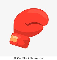 boxing glove cartoon icon
