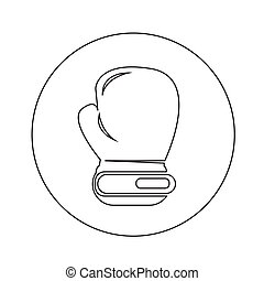 boxing glove icon illustration design