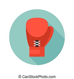 boxing glove icon vector, flat design