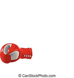 Boxing Glove - Stock vector of red boxing glove