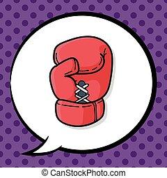 Boxing gloves doodle