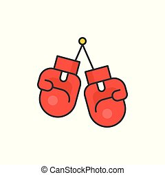 Boxing gloves , filled outline icon