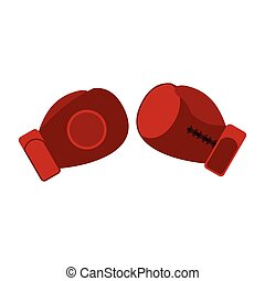 Boxing gloves flat icon