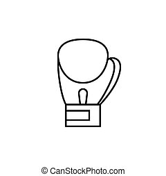 Boxing gloves icon, outline