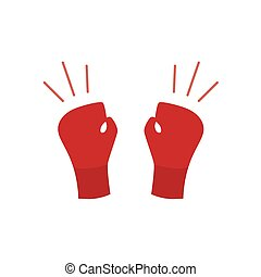boxing gloves icon- vector illustration
