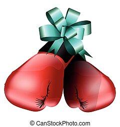 Boxing gloves illustration