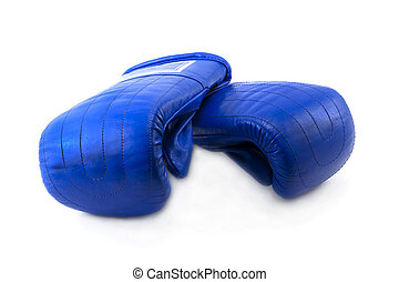 Boxing gloves insulated on white background