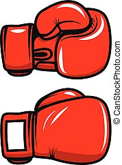 Boxing gloves isolated on white background. Design element...