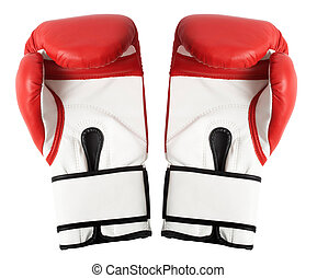 Boxing gloves isolated on white