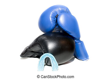 boxing gloves isolated over white