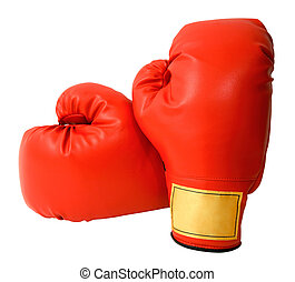 Boxing Gloves Isolated - This is a closeup of a pair of...