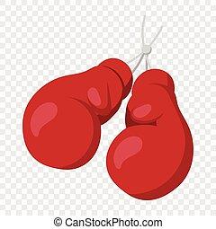 Boxing gloves on nail illustration