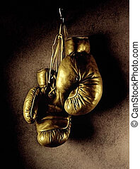 Boxing gloves - Photo of boxing gloves hanging on the wall